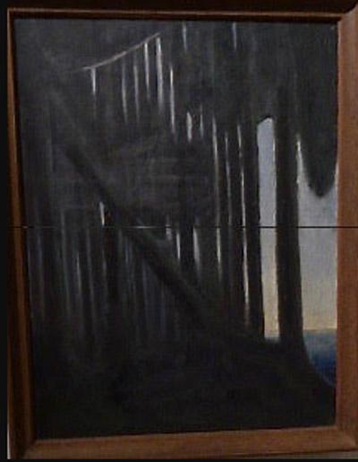 """I Kaunas -  Litauens huvudstad under 1918-1940 - var höjdpunkten besöket på  Ciurlionis konstmuseum tillägnat  konstnären och kompositören Mikalojus Konstantinas Ciurlionis (1875-1911).  Han skrev mer än fyrahundra  musikstycken, målade fler än trehundra konstverk, skrev litteratur och experimenterade med fotokonsten.  Ciurlionis är Litauens mest berömde konstnär som  främst betraktas som symbolist """"Rustling of the Forest"""" 1904"""