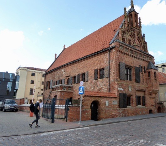 Ett välbevarat hus från Renässansen i Kaunas.