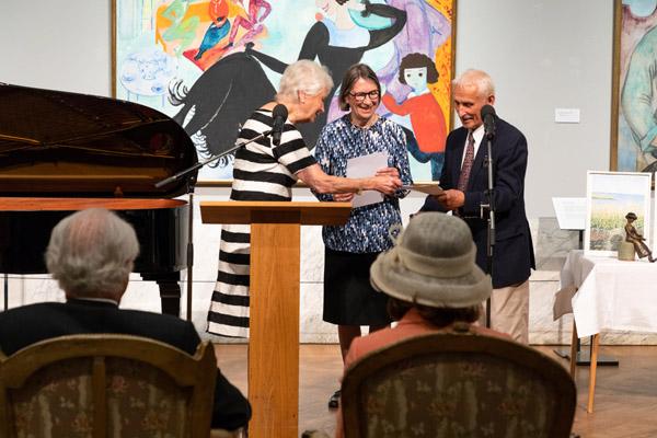 Ursula och Lars Sjöberg tar emot Kulturpriset - Diplom och 60 000 kronor